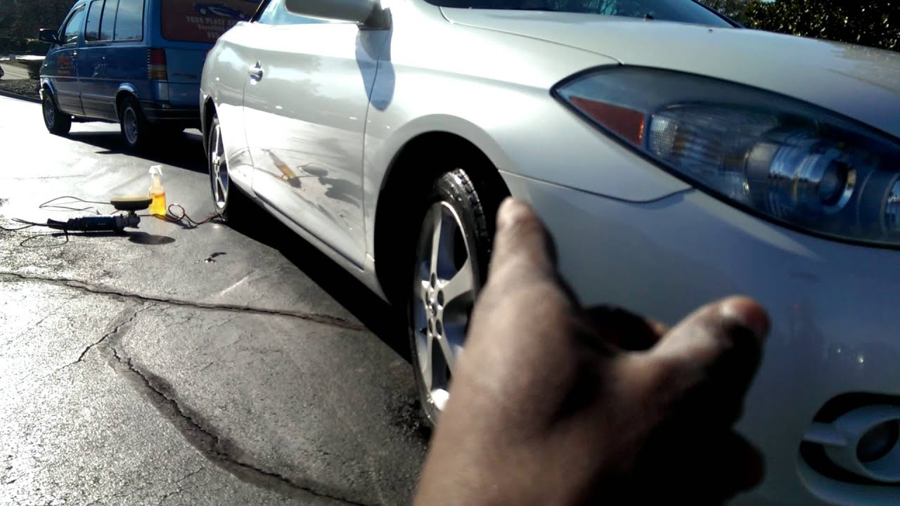 Toyota Solara polished waxed in Knoxville by Mobile Auto Detailing