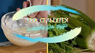 """Рецепты """"Ю"""" - Сок  из сельдерея и маска для груди."""