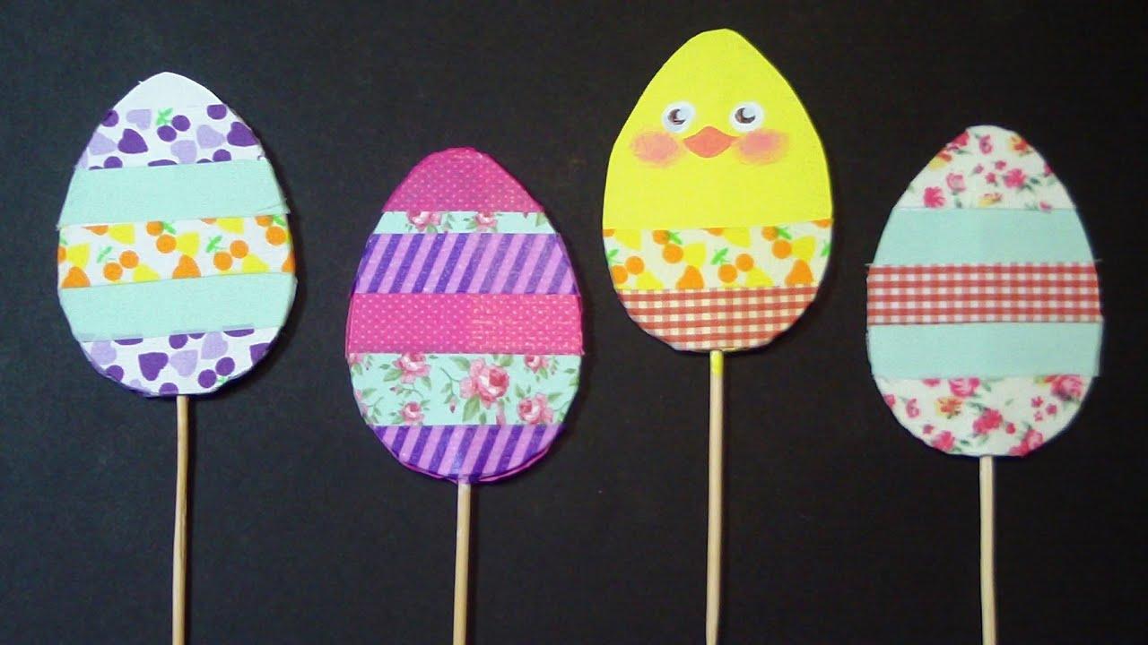 Le uova nel vaso uova di pasqua di cartone decorazioni fai da te by art tv youtube - Decorazioni uova pasquali per bambini ...