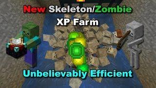 (1.13+) OVERPOWERED SKELETON/ZOMBIE XP FARM - Minecraft Tutorial