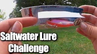 Saltwater Fishing Lure in FRESHWATER LAKE Challenge