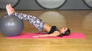 Leg Workout   Stability Ball