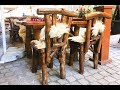 Beautiful Rustic Chairs and Table Wood Log Creative Cozy Design 2019 Part.2