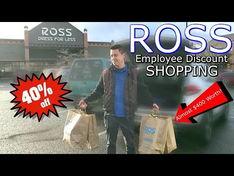 I got 40% off at ROSS with Employee Double Discount! - YouTube