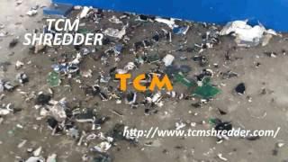 Shredder machine waste hard drives computers