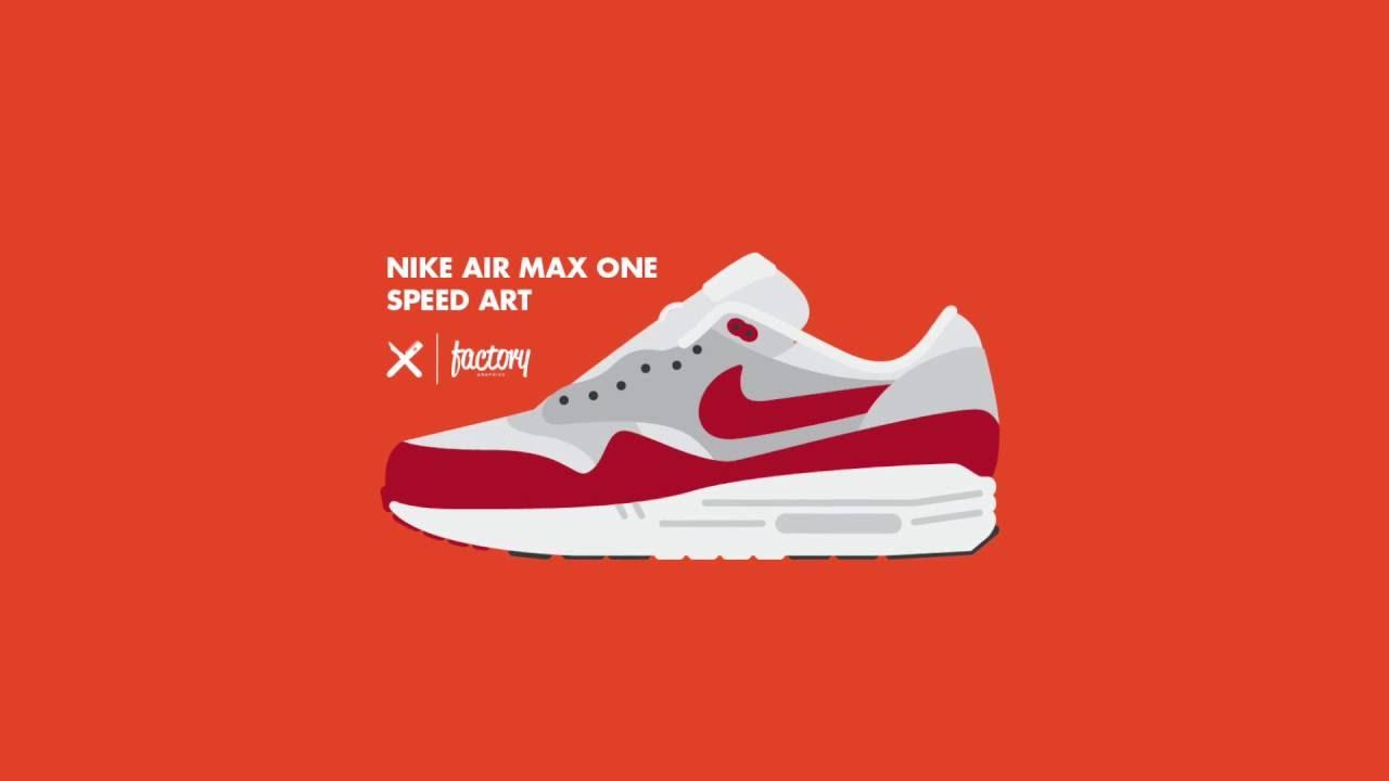 Art Adobe Speed Air Max Nike One Illustrator Youtube wRq7ZqISx