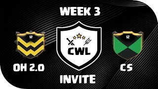 CWL Invite - Season 2 - Week 3 - OneHive 2.0 VS Cold September | Clash of Clans