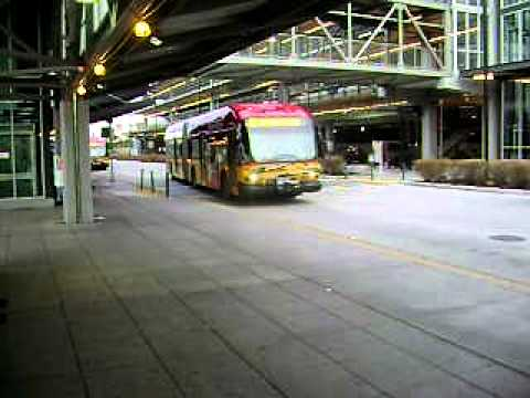 Federal Way Transit Center - Arrival of Rapid Ride A Bus (Part 2)