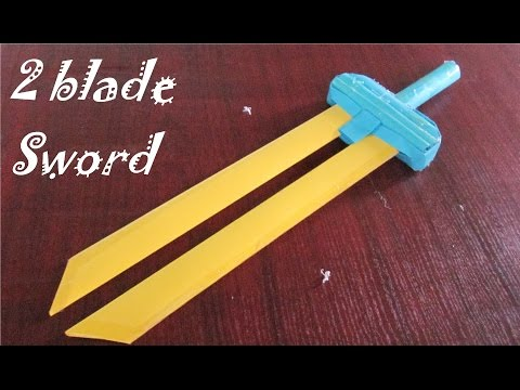 How to make a paper Sword | 2 blade sword | Creative toy
