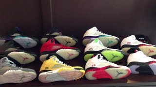 My Jordan V (5) Collection June 2013: A look At Different Jumpman Tongues