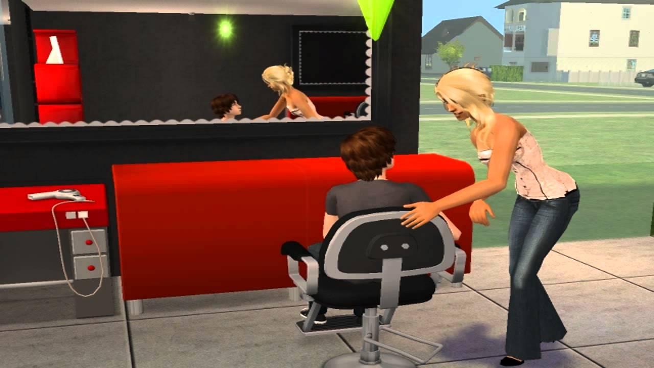 Sims 2 pure salon hairdressing salon youtube for Sims 3 salon moderne