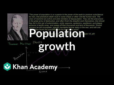 Thomas Malthus and population growth | Cosmology & Astronomy | Khan Academy