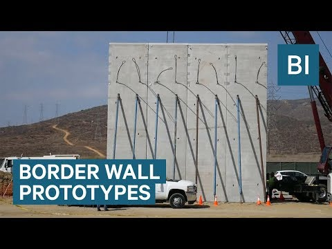 Prototypes of Trump's border wall are being built