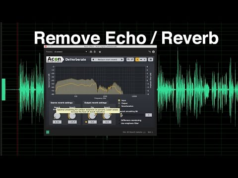Remove Echo And Reverb From Dialogue Audio  With 3rd Party Plugins