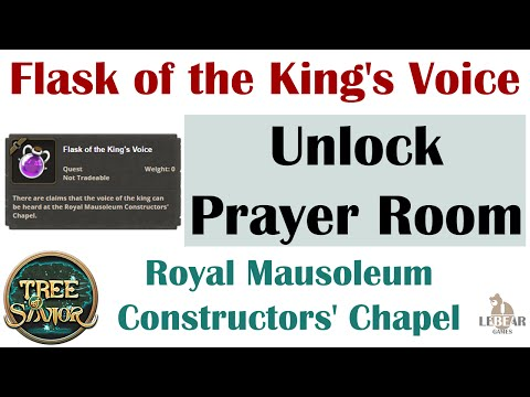 [ TREE OF SAVIOR ] Royal Mausoleum Constructors' Chapel : Prayer Room (Flask Of The King's Voice)