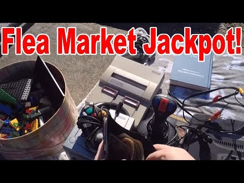 Live Flea Market/Yard Sales Video Game Hunting! Ep. 36 - Fle