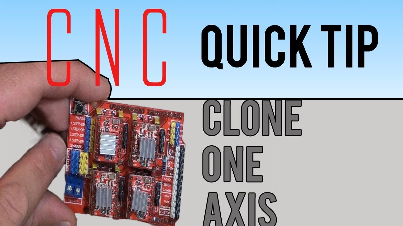 Clone one axis on the CNC shield for the Aduino UNO - CNC 3D Quick on