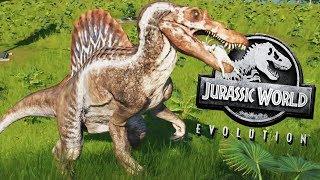 Unlocking the Spinosaurus! - Jurassic World Evolution Gameplay