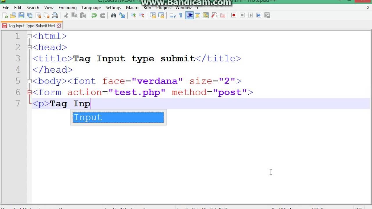 html input type relationship
