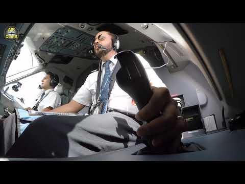 IMPRESSIVE Sukhoi Superjet Cockpit Cam: stick maneuvers, landing at Campeche! [AirClips]