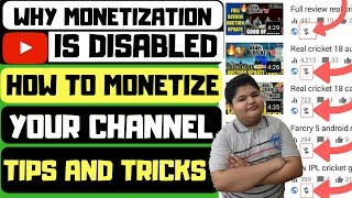 Why monetization is disabled | how to monetize youtube channel 2018 | how to increase watchtime