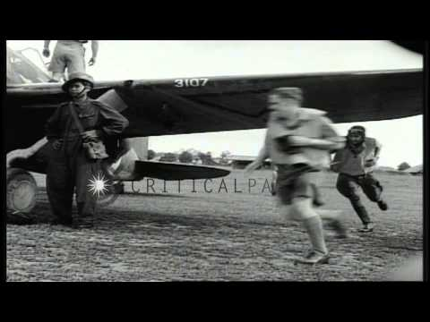 Pilots and planes of the Royal Netherlands Indies Army Air Corp, or ML-...HD Stock Footage