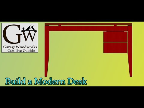 Floating Top Desk with Suspended Drawers Part1