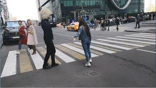 Лезгинка С Красавицей Из Узбекистана В Москва Сити На Улице 2019 ALISHKA MIRA