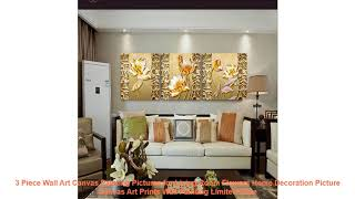 3 Piece Wall Art Canvas Painting Pictures for Living Room Flowers Home