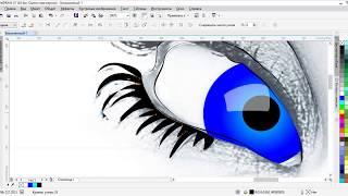 Тружусь как пчёлка, отрисовка лица девушки в CorelDraw X7, уроки дизайна, advertising design