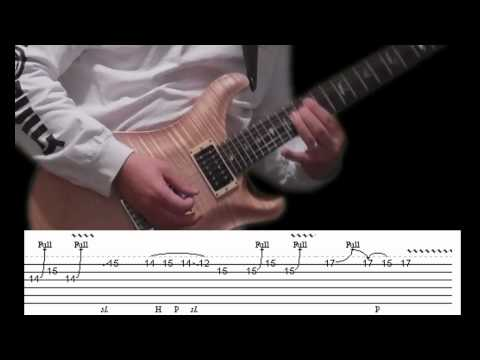 Guitar Lesson with tabs - Scorpions - Rock You Like a Hurricane (intro solo)