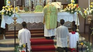 Misa Tradicional con la participación de la escolanía de la abadía benedictina de la Santa Cruz