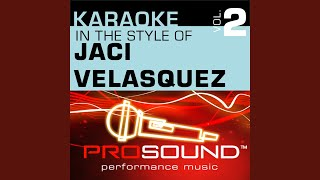 We Can Make A Difference (Karaoke Instrumental Track) (In the style of Jaci Velasquez)