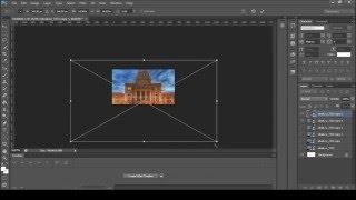 PhotoShop. Создание анимации - приближение/отдаление камеры.