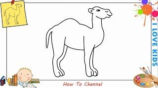 How to draw a camel EASY & SLOWLY step by step for kids, beginners, children