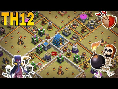 th12 war base 2018/coc th12 anti 3 star/anti 1 star war/th12 trophy  base/clash of clan