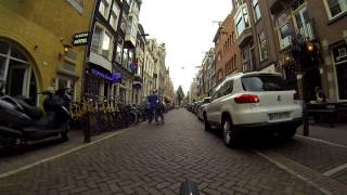 Amsterdam Gopro bicycle ride from Central Station to the Vondelpark