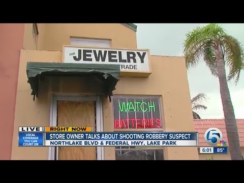 Jewelry store owner shoots would-be robber