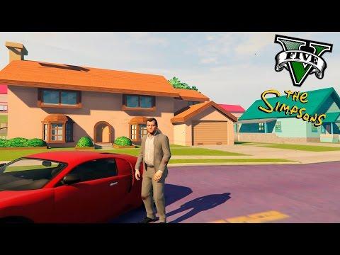 GTA V PC MODS - LOS SIMPSONS EN GTA 5 !! OMG ! - ElChurches