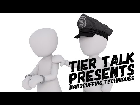 Tier Talk is live discussing how to tactically place and remove handcuffs.