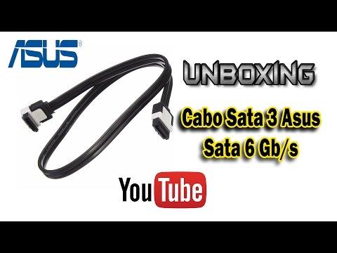 Unboxing ASUS Cabo Sata 3 ,serial Ata, Sata 6 Gb/s Sata3 Sataiii Review - PTBR