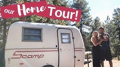 TOUR OF OUR 13' SCAMP TRAILER!
