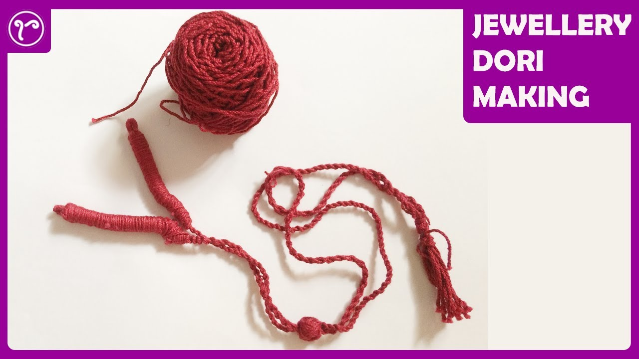 Dori making tutorial back rope for handmade jewelry do it dori making tutorial back rope for handmade jewelry do it yourself cord with embroidery thread solutioingenieria Image collections