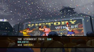 Capcom vs. SNK 2: Mark of the Millennium 2001 - Dan/Rolento/Sakura - Arcade Mode Playthrough