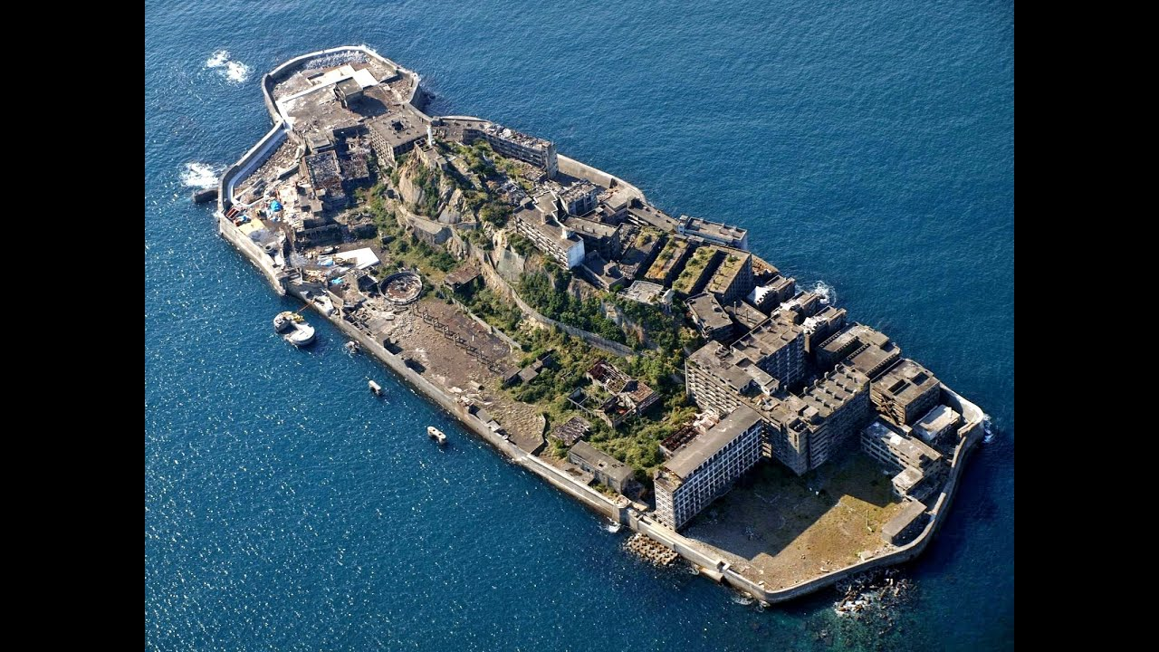 Image result for Creepiest Places on Earth : Gunkanjima Hashima Island, japan