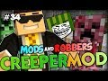 NEW CREEPERS TO TROLL WITH? - Minecraft Modded Cops and Robbers (Elemental Creepers Mod)