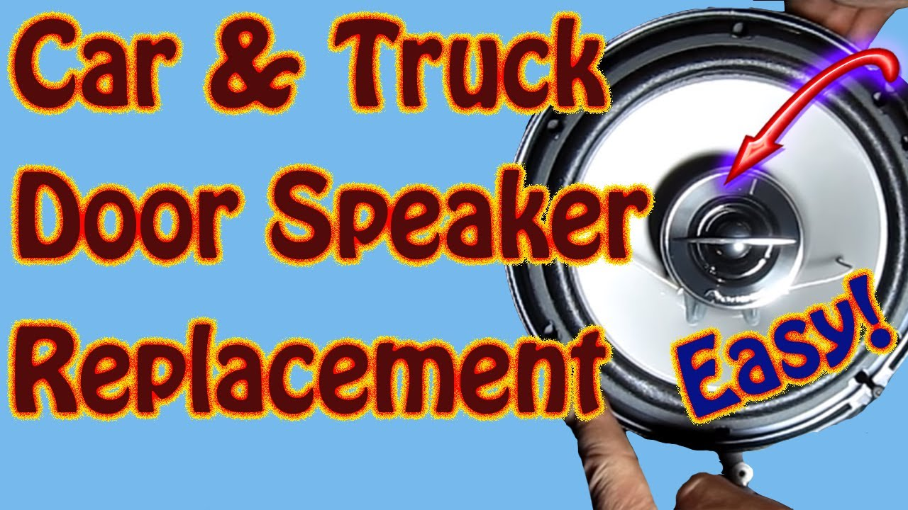 Diy Rear Door Speaker Replacement Pioneer Ts G1644r 6 5 Speakers S10 Gmc Jimmy Blazer Envoy You