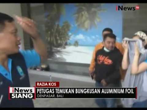 BNNP Bali razia kos - kosan dan temukan aluminium foil - iNews Siang 06/10