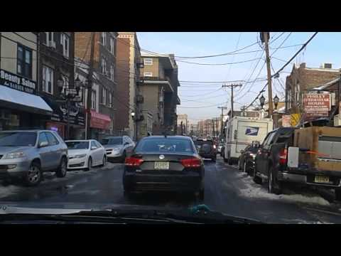 Driving in West New York, New Jersey: Park Avenue