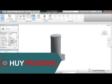 [Revit Architecture 2014]Tạo Massing In Place Phần 1
